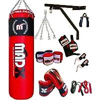 MADX Box-Set, 13-teilig, 1.52 meters gefüllt, Boxsack, Handschuhe, Kette, Halterung, Kickbag