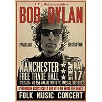 Close Up Póster Bob Dylan - Manchester Free
