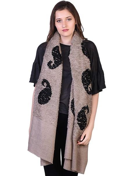 100% Handspun Cachemira De las mujeres Paisley Bufanda Stole Chal Pashmina  Beige  Amazon.es  Ropa y accesorios 2b513c8111d7