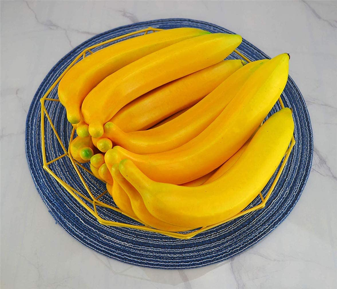 Ulalaza 60Pcs Fake Large Long Green Raisins Artificial Fruits Model Lifelike Home House Kitchen Party Decoration Desk Ornament