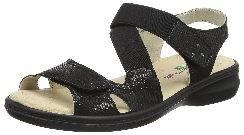 Black sandals ebay uk - Image Is Loading 5 Uk Black Black Reptile Padders Women S