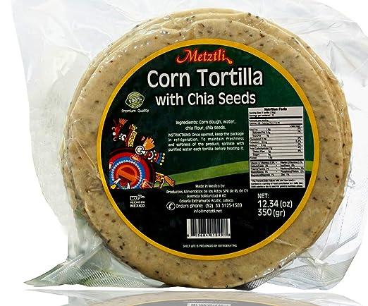 Tortillas de maíz con semillas de chia fabricadas en México ...