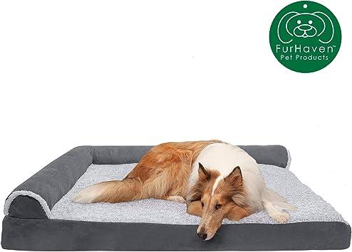 Amazon.com: Cama para perro Furhaven, ortopédica, en forma ...