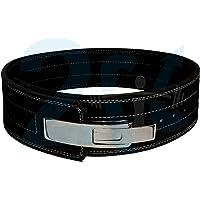 2Fit Cinturón de Power Palanca de piel Pro de peso 10mm Gimnasio Potencia Entrenamiento Levantamiento Negro
