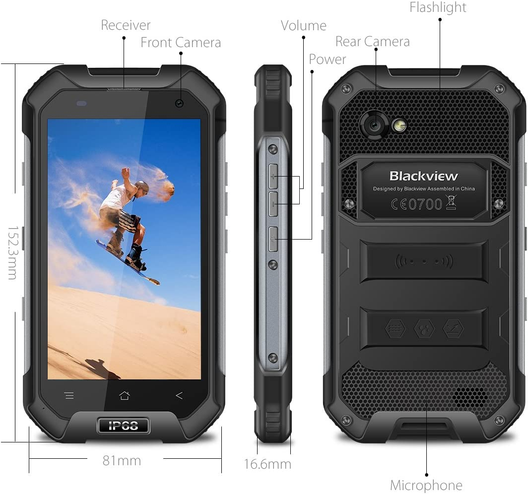 Blackview BV6000 Smartphone Libre IP68 Impermeable a Prueba de ...