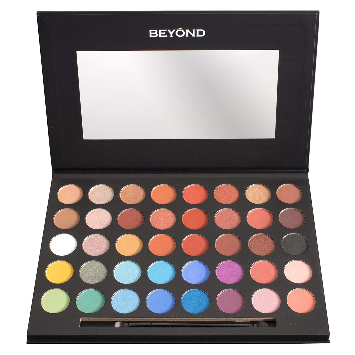 Beyond Everglow 40 Colors Shimmer & Matte Highly Pigmented Professional Eye Shadow Palette Makeup Kit.