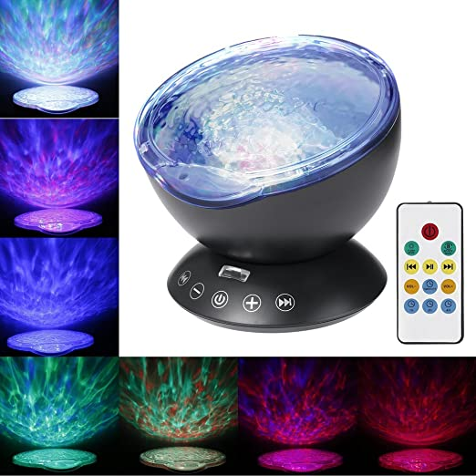 Luz de Noche Lámpara de Proyector, Footprintse Remote Control ...