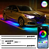 Car Underglow LED Lights, LEDCARE Dream Color Chasing Strip Lights with Wireless APP Control, Exterior Car Neon Accent Lights