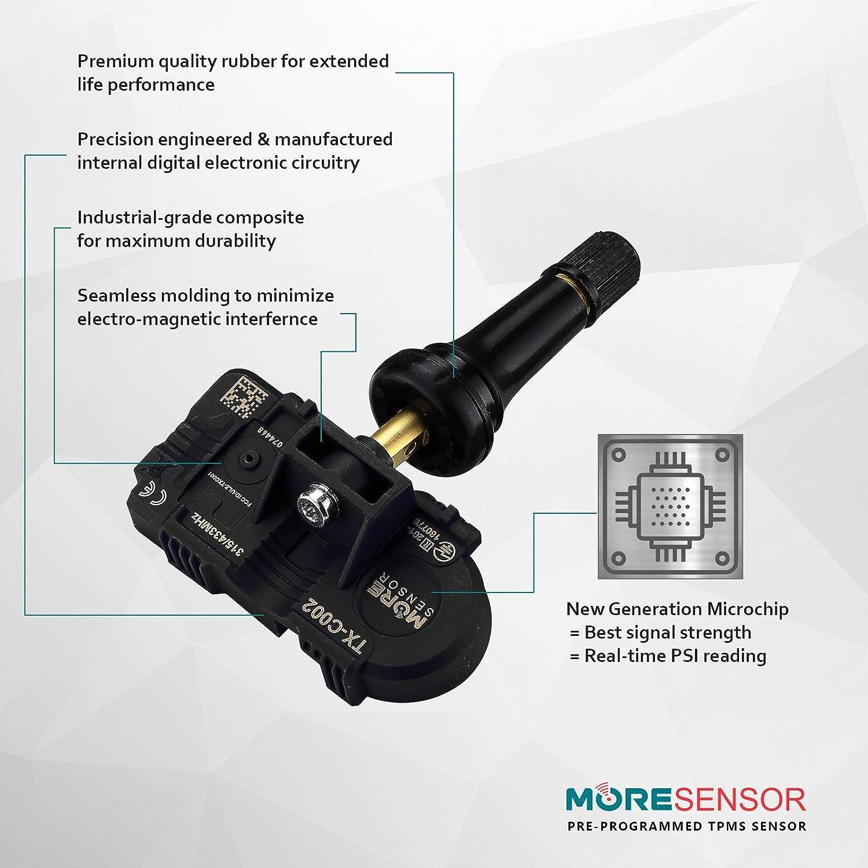 CX-S102-SN fits 20+ Models MOBILETRON MoreSensor 315 MHz Snap-in Direct-Fit TPMS Tire Pressure Sensor for Hyundai /& KIA