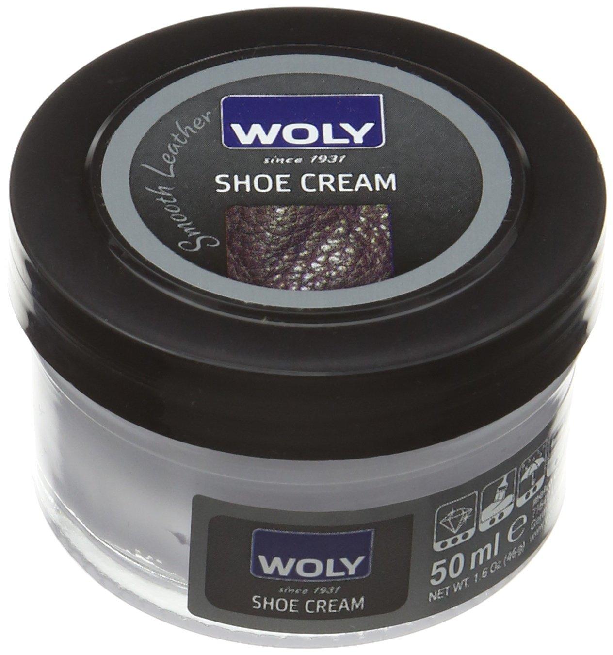 Woly Shoe Cream, Zapatos y Bolsos Unisex Adulto, Beige (Dark Beige), 50 ml
