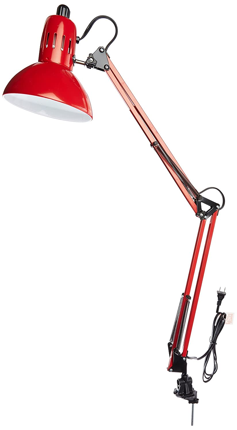 Lite Source LS-105RED Desk Lamp with Red Metal Shades Red Finish