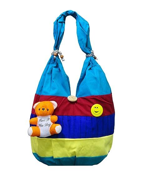 2eeeb582f4b5 ATORAKUSHON Women s Cotton and Synthetic Teddy Multicolour Tote Bag   Amazon.in  Shoes   Handbags