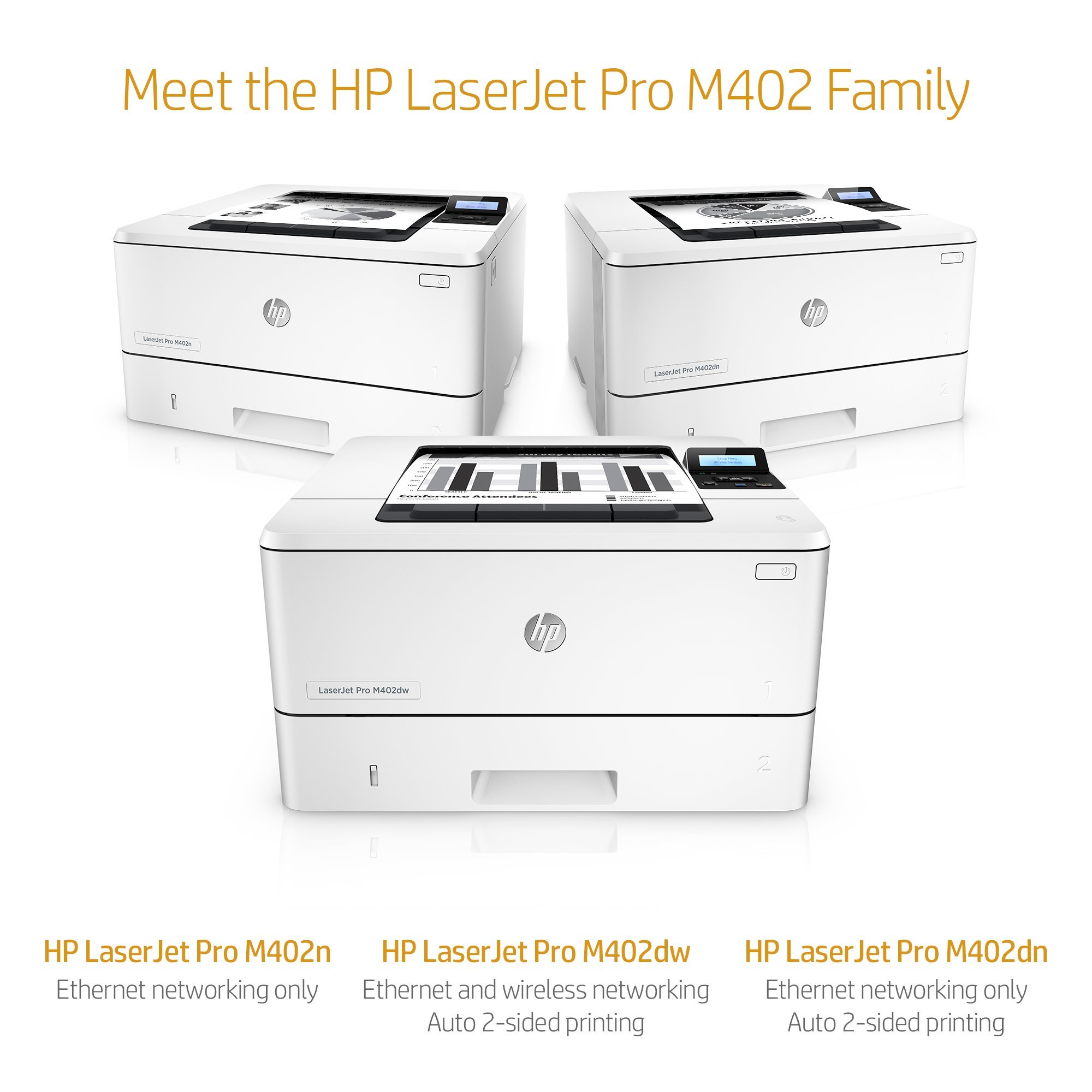 HP LaserJet Pro M402n Laser Printer with Built-in Ethernet, Amazon Dash Replenishment ready (C5F93A) by HP (Image #5)