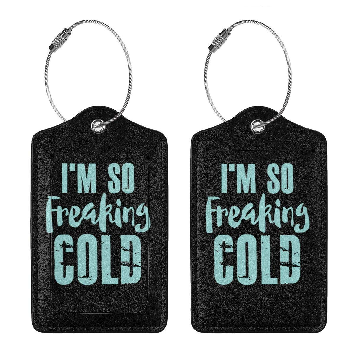 Im So Freaking Cold Leather Luggage Tag Travel ID Label For Baggage Suitcase