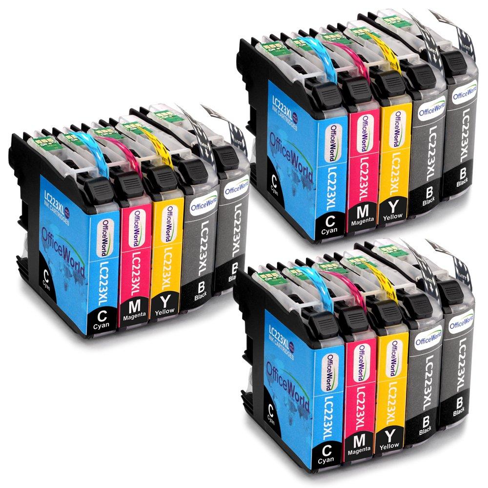 OfficeWorld Reemplazo para Brother LC223 Cartuchos de tinta Alta Capacidad Compatible para Brother DCP-J562DW