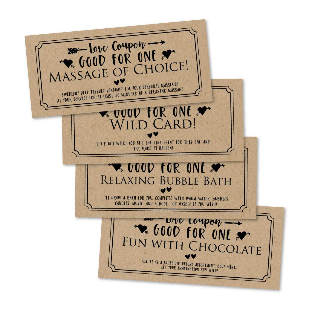 15 IOU Love Voucher Coupons For Him or Her, Husband Wife Boyfriend or  Girlfriend Couples Valentines Day, Unique Birthday, Funny Anniversary,  Romantic