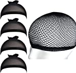 Fani 5 Pieces Black Mesh Wig Caps for Long Hair Nylon