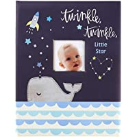 C.R. Gibson ''Twinkle Twinkle Little Star'' Blue Baby Memory Book for Boys, 48 Pages, 9.1'' x 11.5''