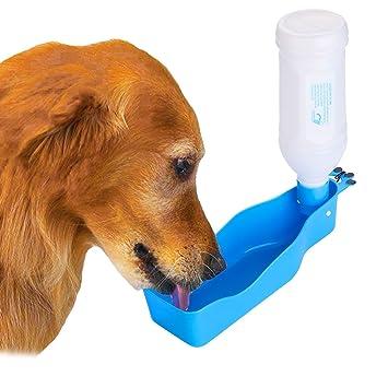 Botella De Agua Para Perros Para Caminar Paseo Con Bebedero Portatil Botellas: Amazon.es: Productos para mascotas