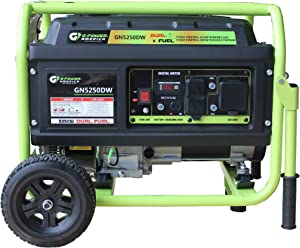 Green-Power America GN5250DW 5250-Watt Propane and Gasoline Powered Dual Fuel Generator