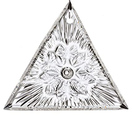 Waterford Crystal Christmas Ornaments.Waterford Crystal 2018 Times Square Gift Of Serenity Triangle Christmas Ornament