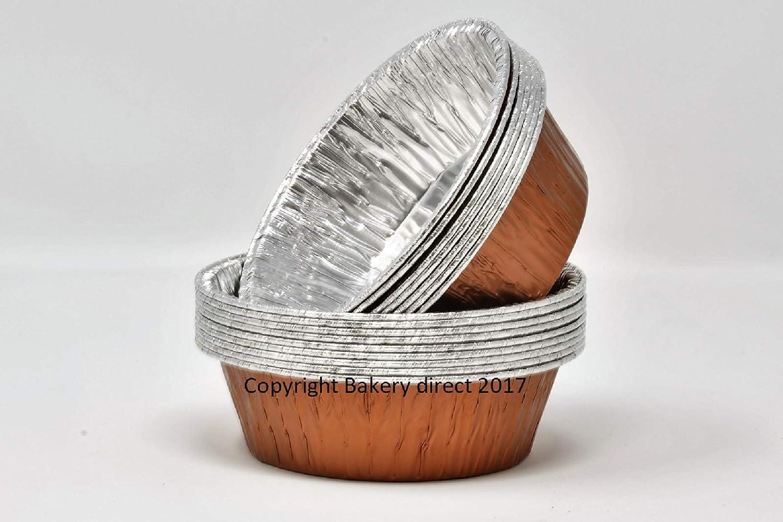 110x33mm Silver Bakery direct 50/ronde feuille daluminium Pukka Pie Foils//plats en 5/couleurs