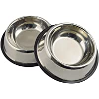 Pawfection Stainless Steel Dog Bowl (400ML, Set of 2)