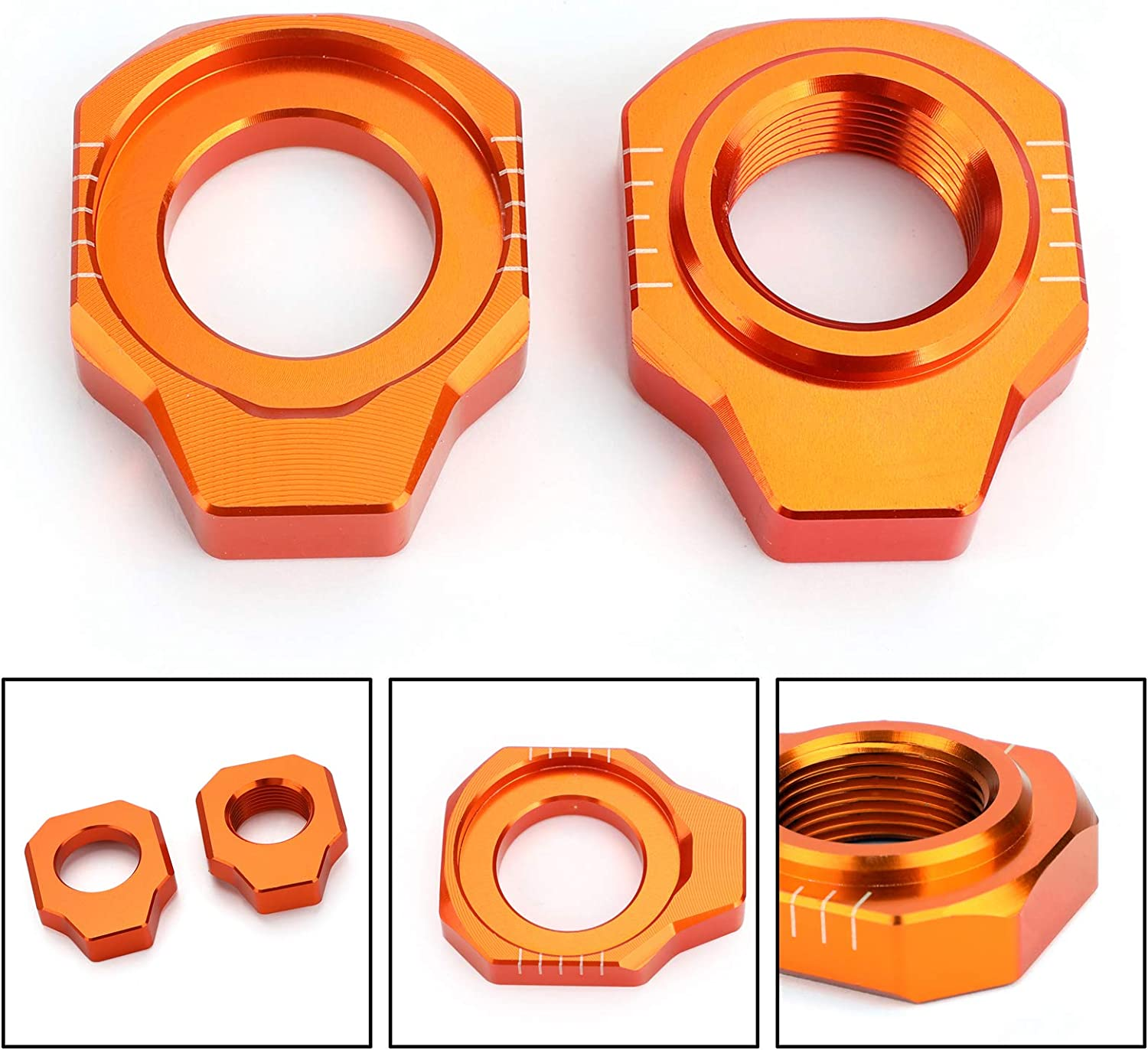 Axle Chain Blocks Adjuster For KTM 125 150 200 250 300 350 450 500 XCW XCFW 2019