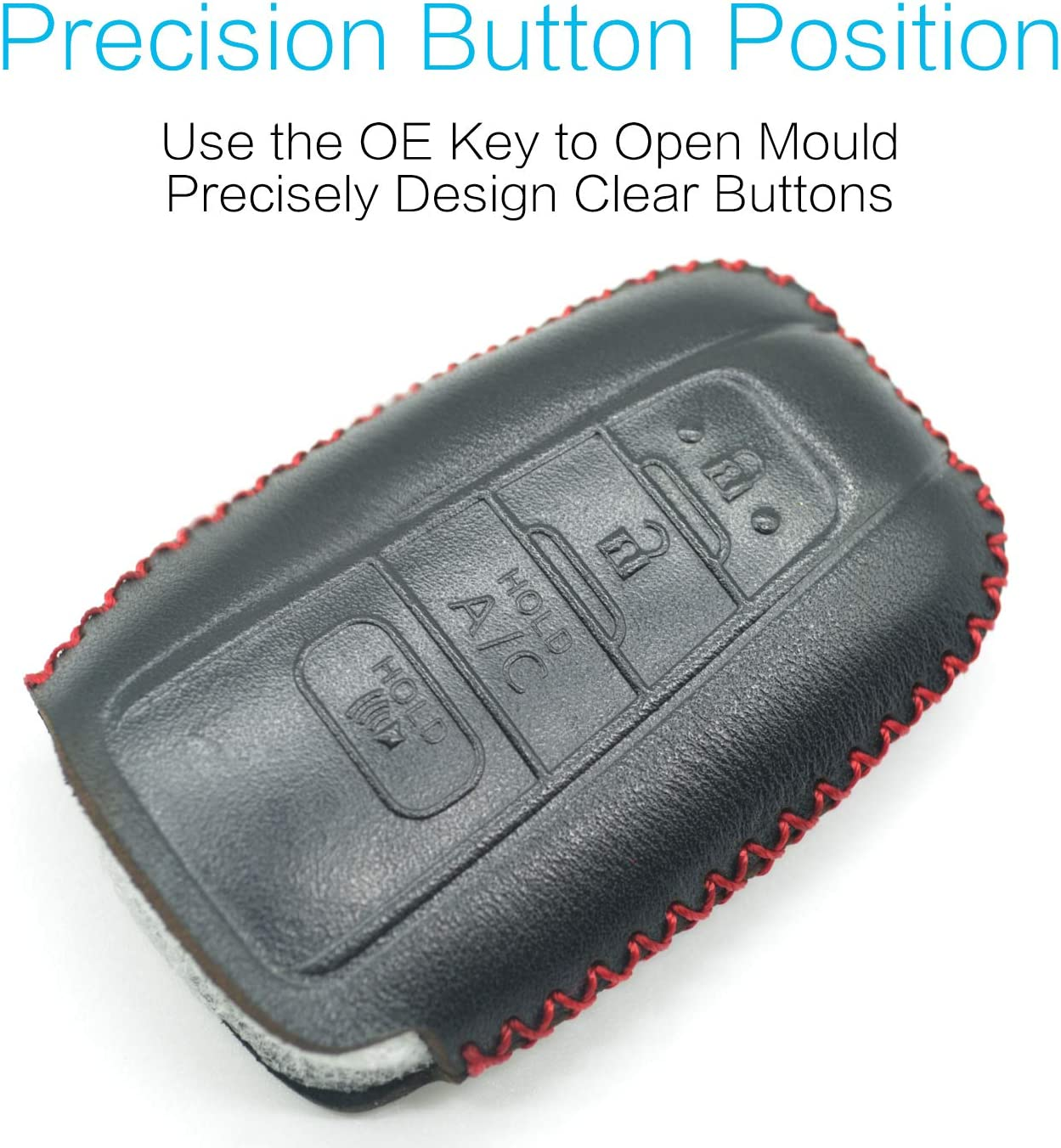 Compatible with fit for 2017-2018 Toyota Prius Toyota Prius Prime 4 Buttons with A//C Remote Function Smart Leather Case Key Fob Cover Keyless Remote Holder HYQ14FBE Silicone Case /& Key Ring Bonus