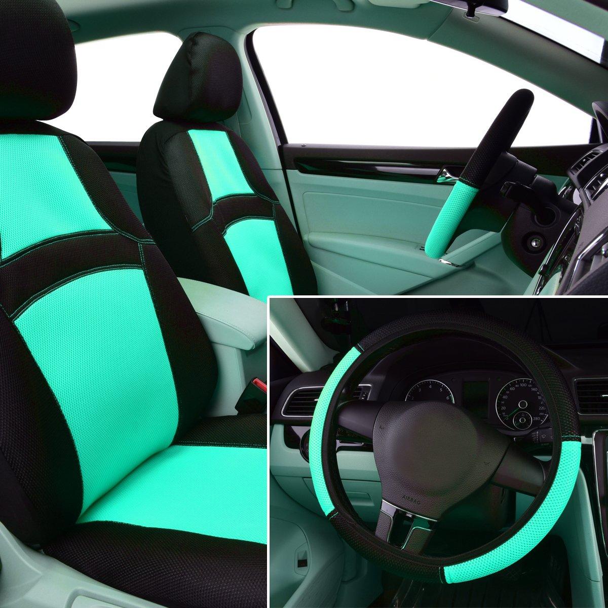 14PCS, Sport Orange 100/% Breathable with 5mm Composite Sponge Inside,Airbag Compatible CAR PASS Rainbow Universal Fit Car Seat Cover