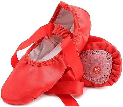 Amazon.com: Chimei Zapatillas de ballet para danza para ...