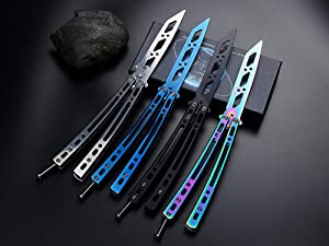 Practice Stainless Steel Training Tool 100% Safe Strong and Durable (Colorful) (Color: Colorful)