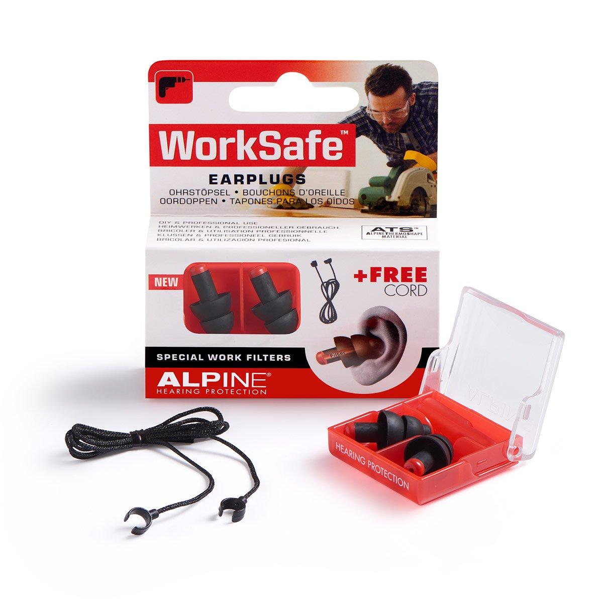 Alpine WorkSafe 2015 Protection d'Oreilles pour Travail + Gratuit Cord 111.21.350