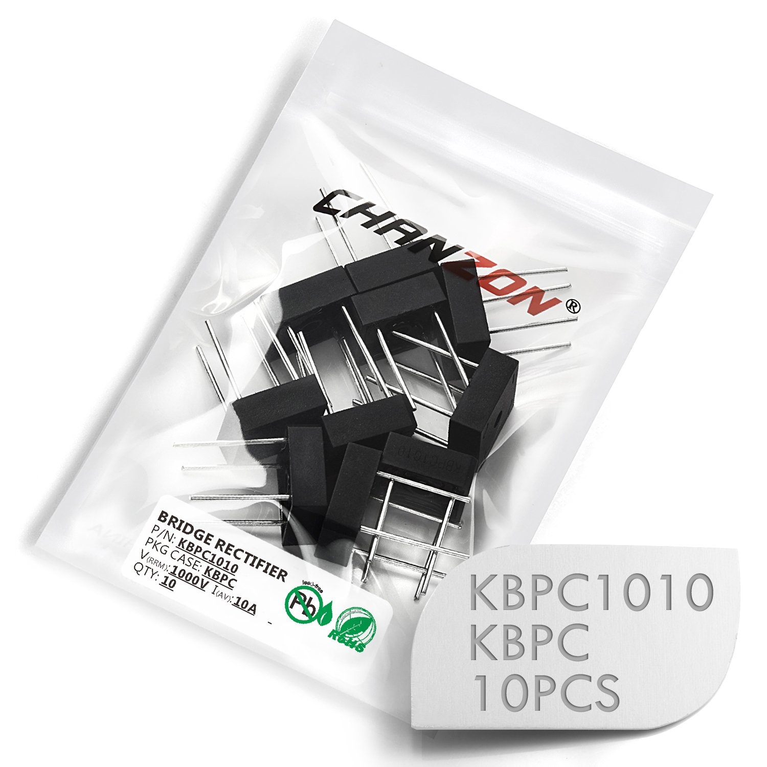 Full Wave 3 Amp 1000 Volt Electronic Silicon Diodes SIP-4 Single Phase Pack of 20 Pieces Chanzon KBP310 Bridge Rectifier Diode 3A 1000V KBP-4