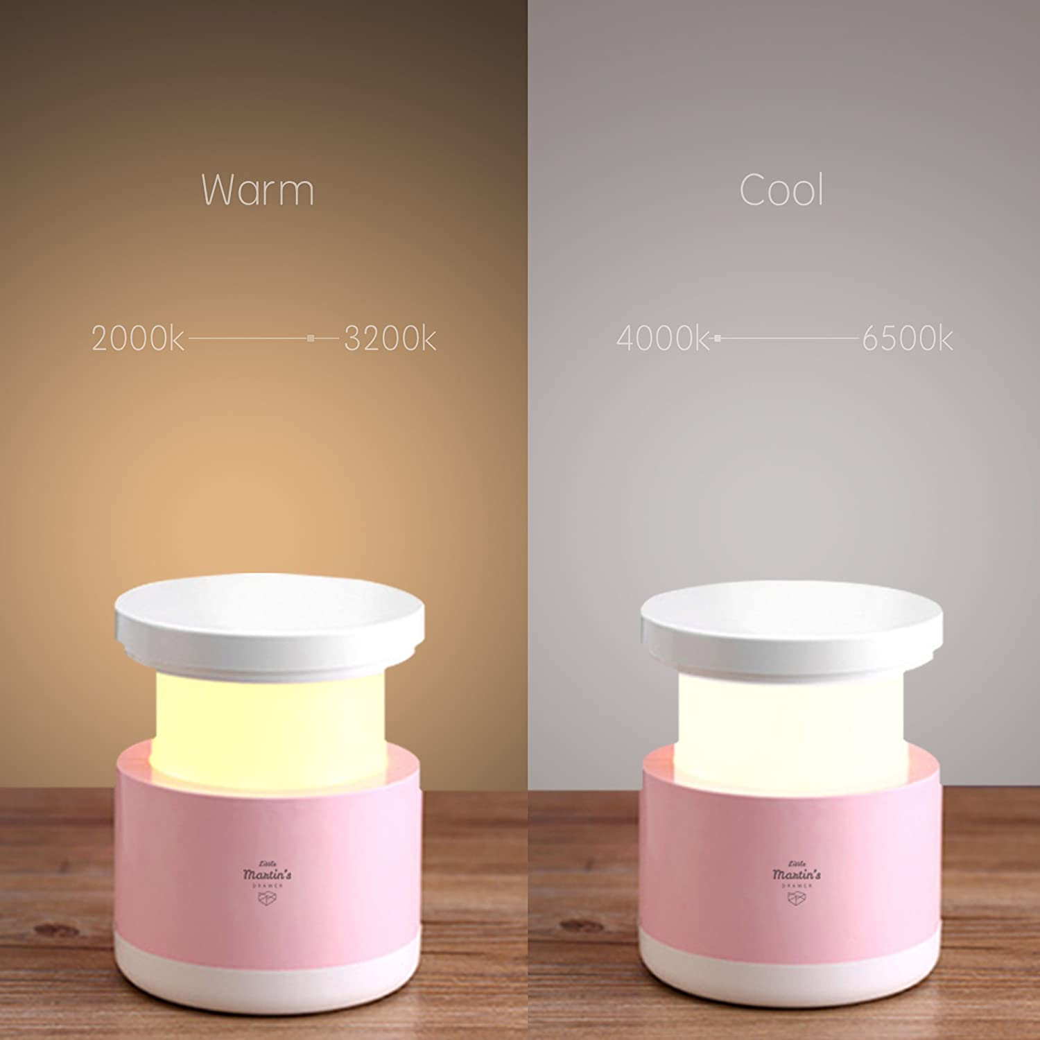 Little Martin/'s Drawer BFL1706 Adjustable Brightness /& Cool White//Warm Yellow Two Color Modes Little Martin/'s Night Light for Baby Breast Feeding Night Light LED USB Rechargeable Baby Nursery Lamp Pink