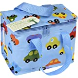 Insulated Children's Lunch Bag - Blue Cars