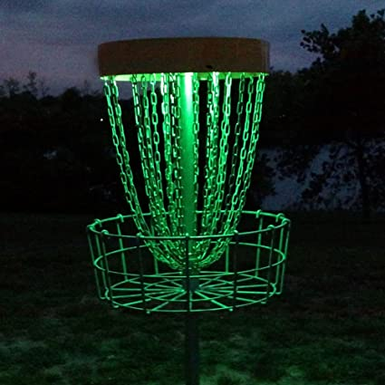 Glowcity Set Of 2 Led Lights For Disc Golf Basket Multi Colored Remote Controlled Waterproof Includes Batteries And Adhesive Fastener To Attach