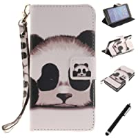 Beddouuk iPod 5/6 Case, Creative Pattern PU Leather Wallet Flip Case Magnetic Closure Card Slots Stand Function Protective Case Full Body Backcover Bookstyle Case for Samsung Galaxy iPod Touch 5/6