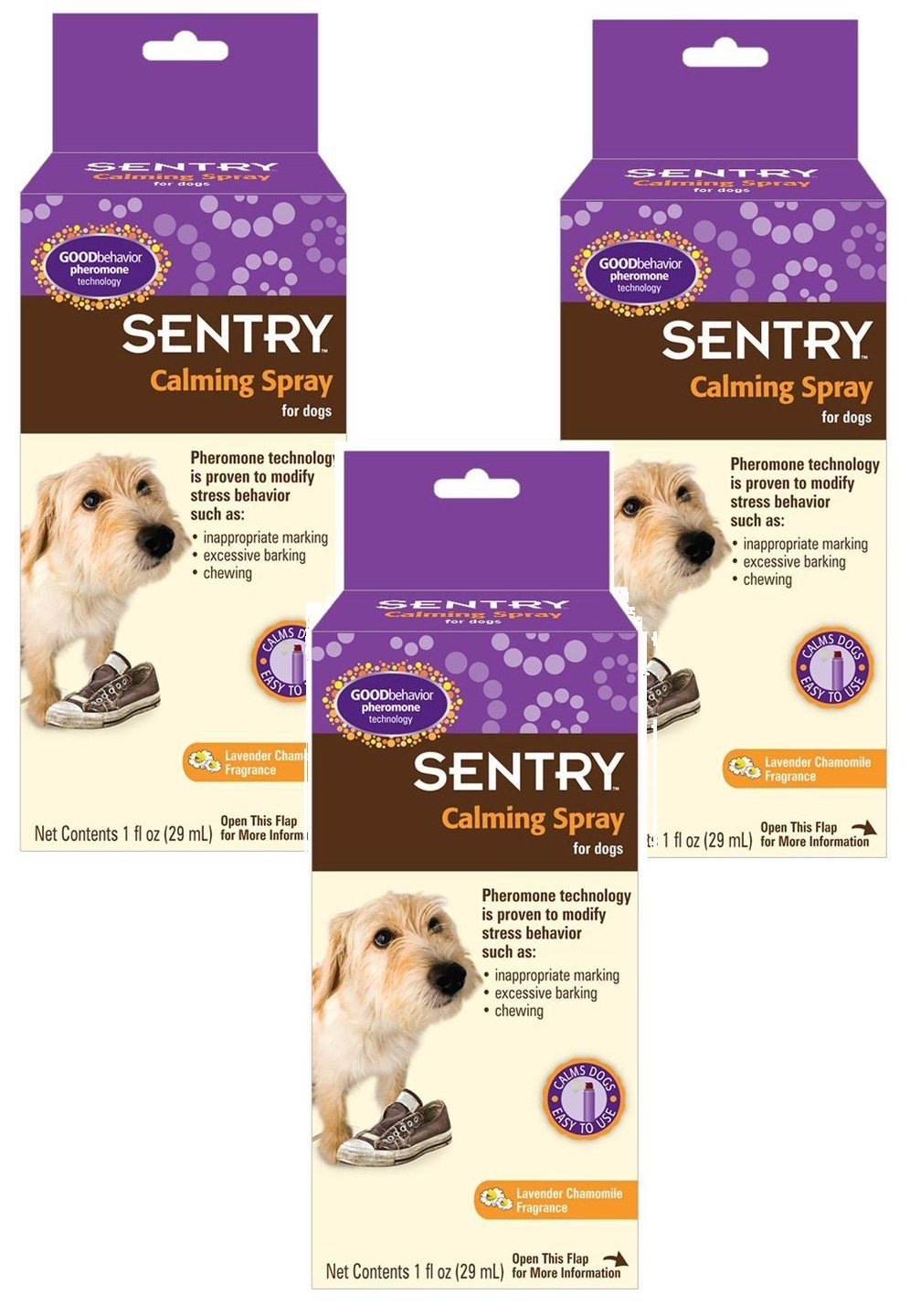 Sentry Calming Spray for Dogs, 1-Ounce (3 Pack) by Sentry Industries Inc.