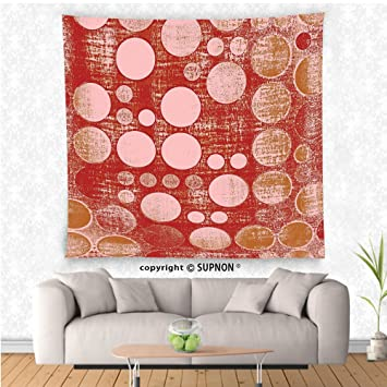 Amazon.com: VROSELV custom tapestry Polka Dots Home Decor Collection ...
