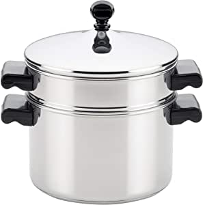Farberware Classic Series Sauce Pot/Saucepot with Steamer Insert, 3 Quart, Silver