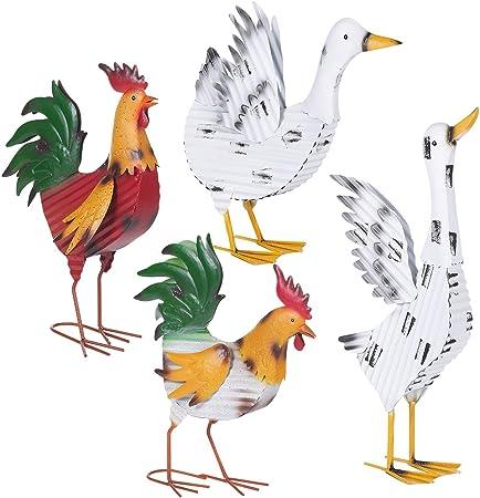 URBNLIVING - Diseño de Animales de jardín de Metal: Amazon.es: Hogar