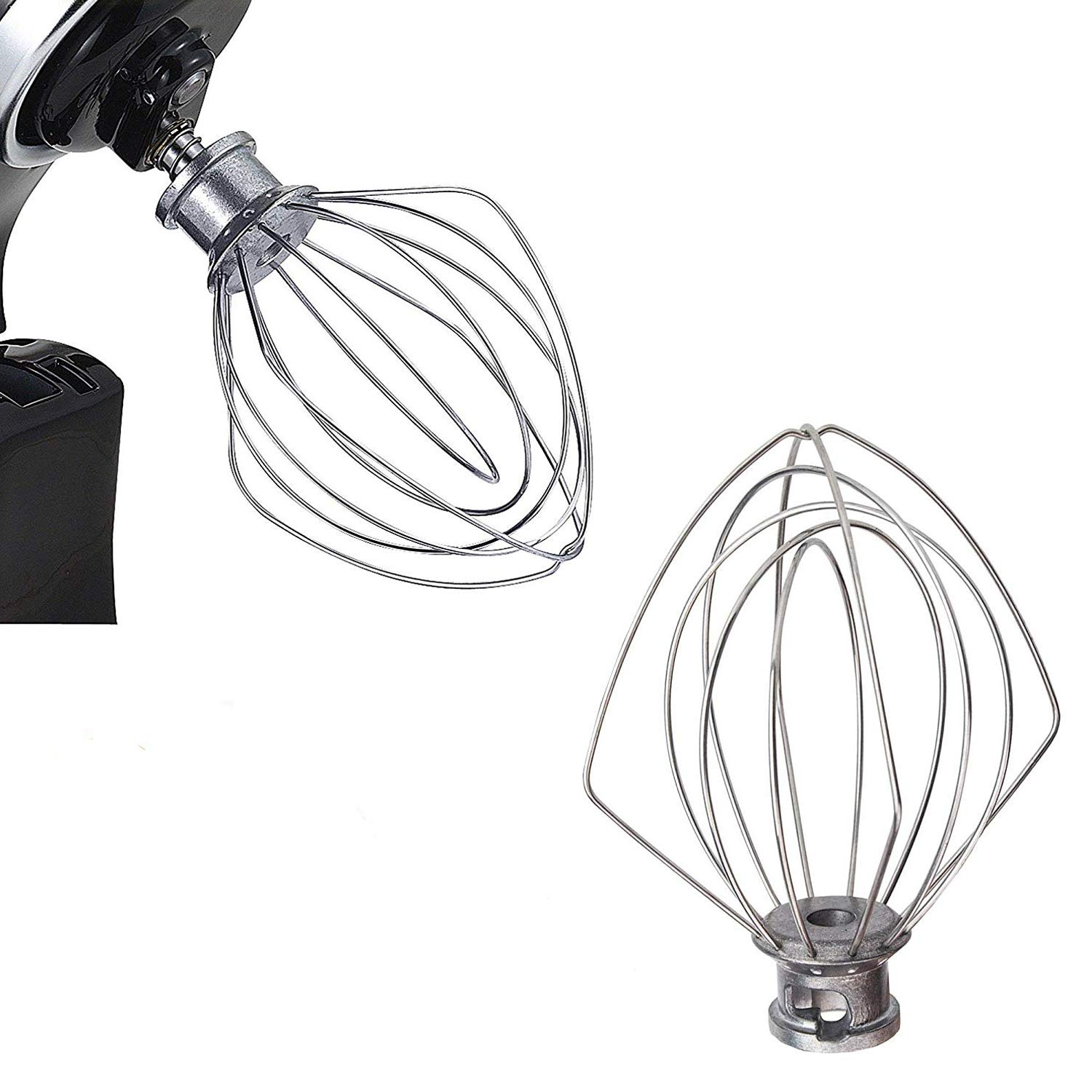 Ketofa K45WW Wire Whip Stand Mixer Compatible Kitchen Aid, Stainless Stirrer Ballon Whisk