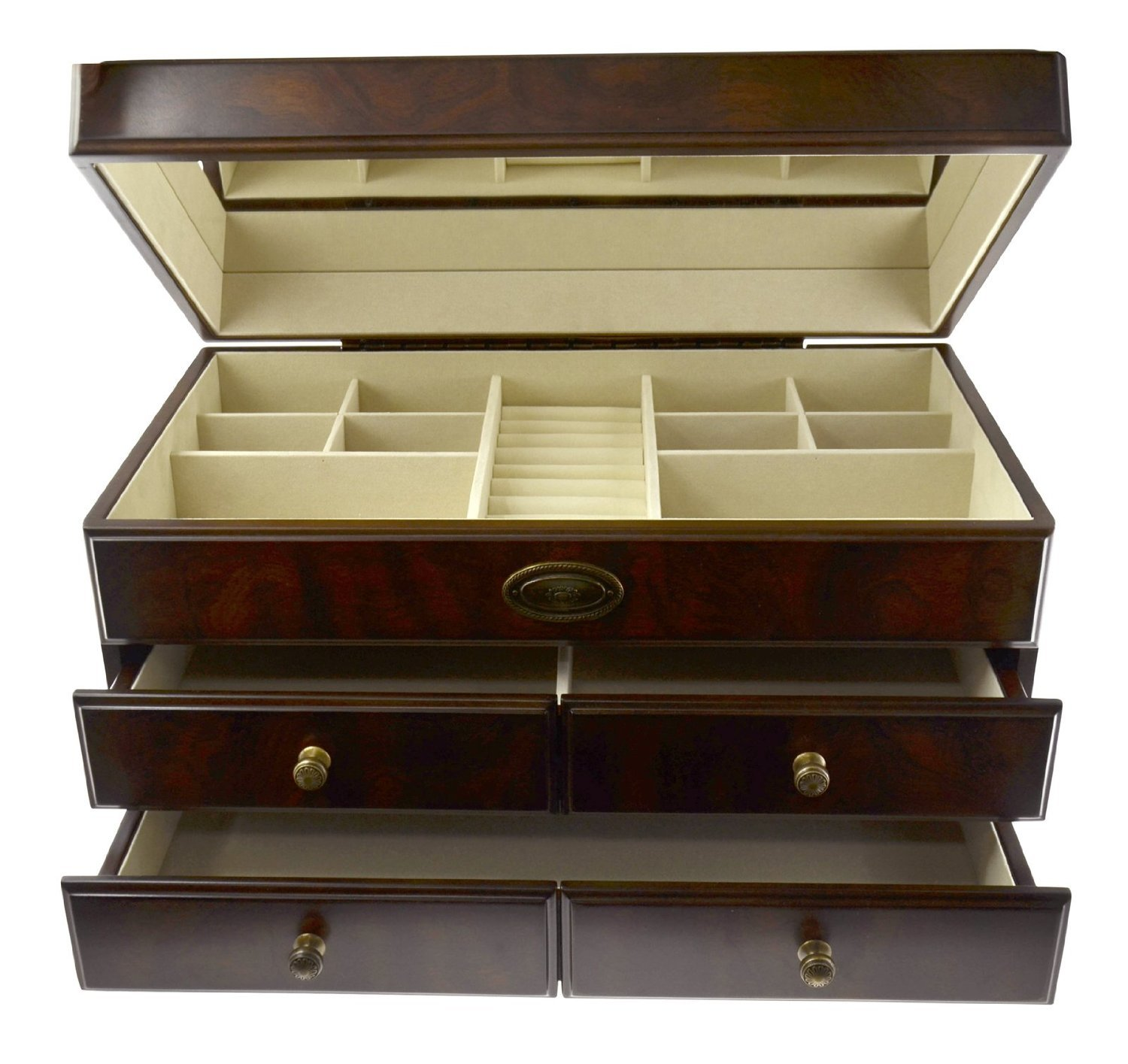 Vintage Classic Jewelry Box Storage Container Brand Bombay Dimensions 10''H x 18''W x 10''D