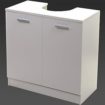 Marko Bathroom High Gloss White Under Sink Cabinet Basin Cupboard