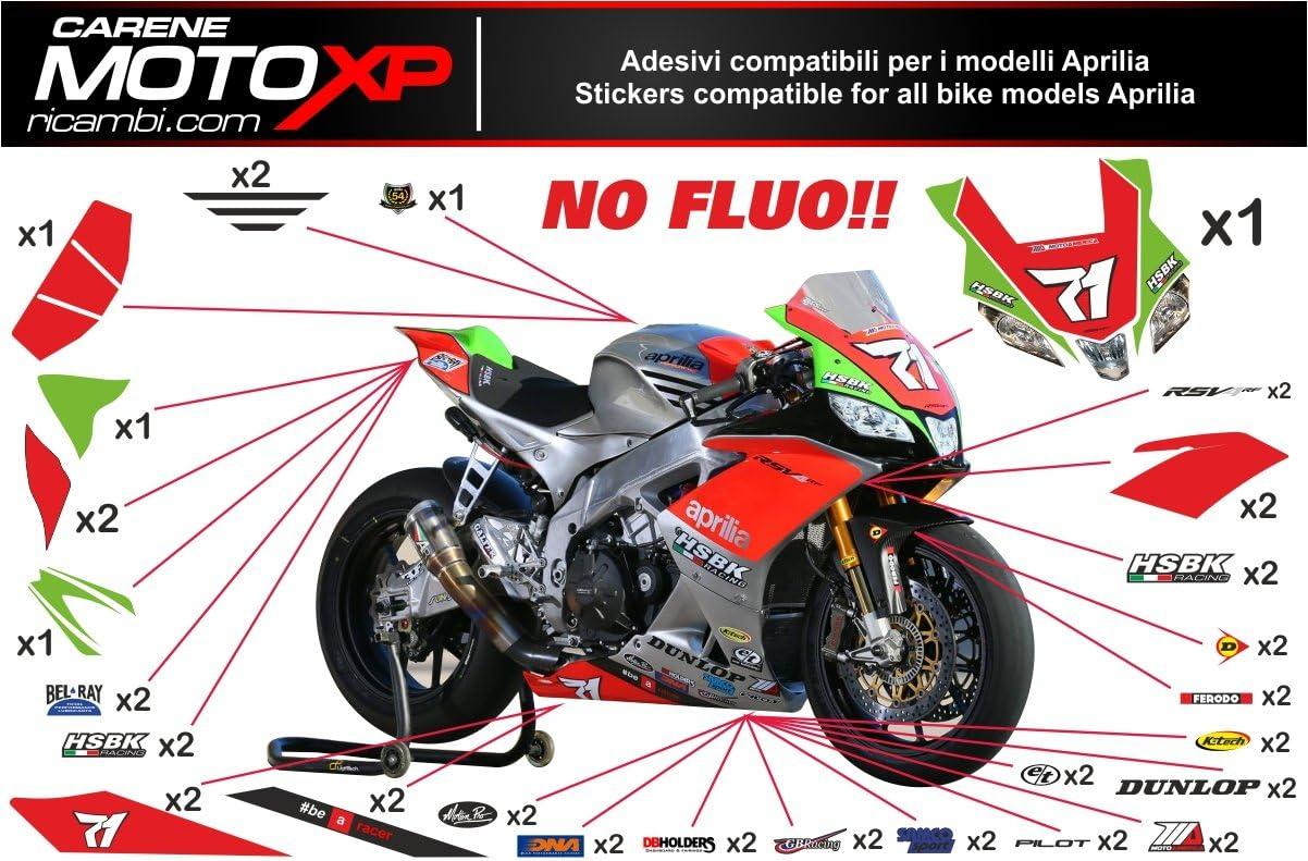 Pegatinas Adhesivos Motos Racing Aprilia RSV4 2015 2016 2017 SB16 US: Amazon.es: Coche y moto