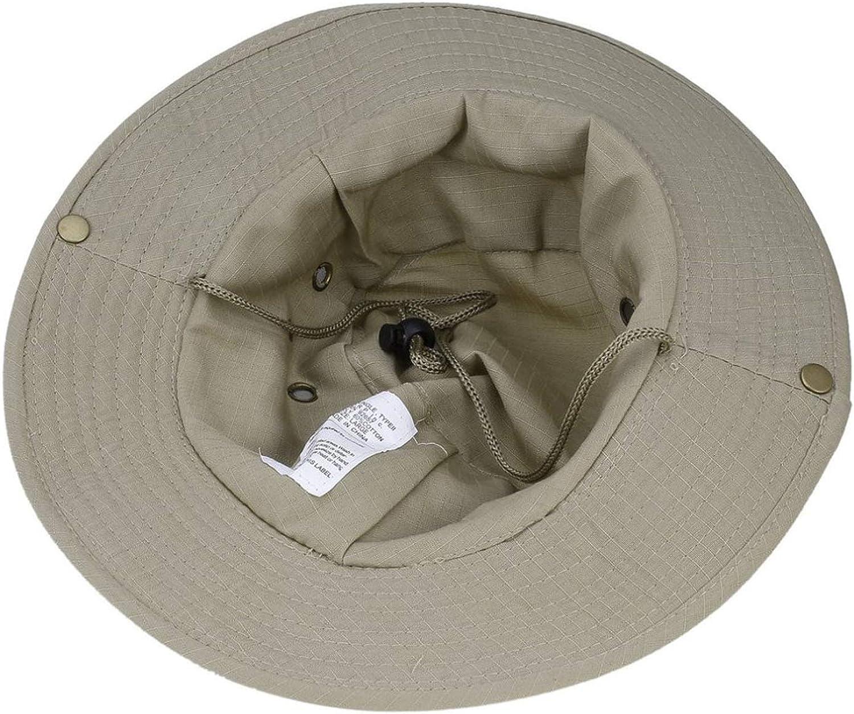 Dal-Msee Summer Mens Bucket Hats Cotton Protection Caps Men Hiking Fishing Sunscreen Caps Fisherman Bucket Hat
