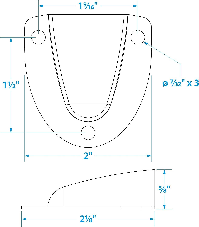 Seachoice 50/ 51/x 53/x 15/mm /16131/coquille Passe-c/âble laiton chrom/é