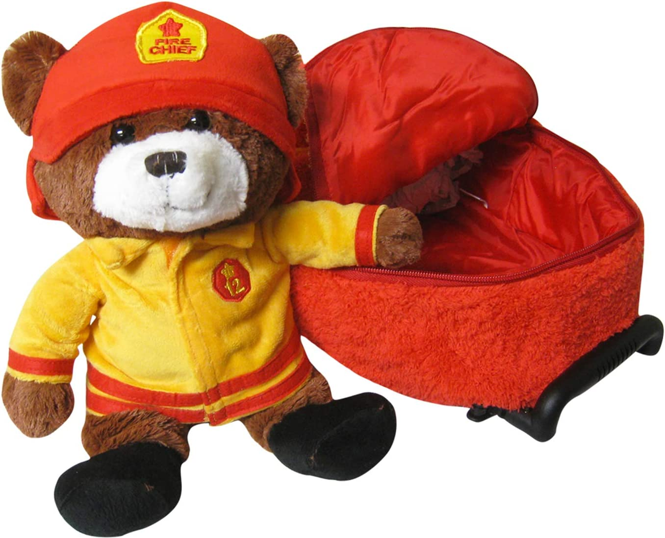 Kreative Kids Kreative Kids Red Fire Chief Bear Plush Backpack 2pc Set Childre