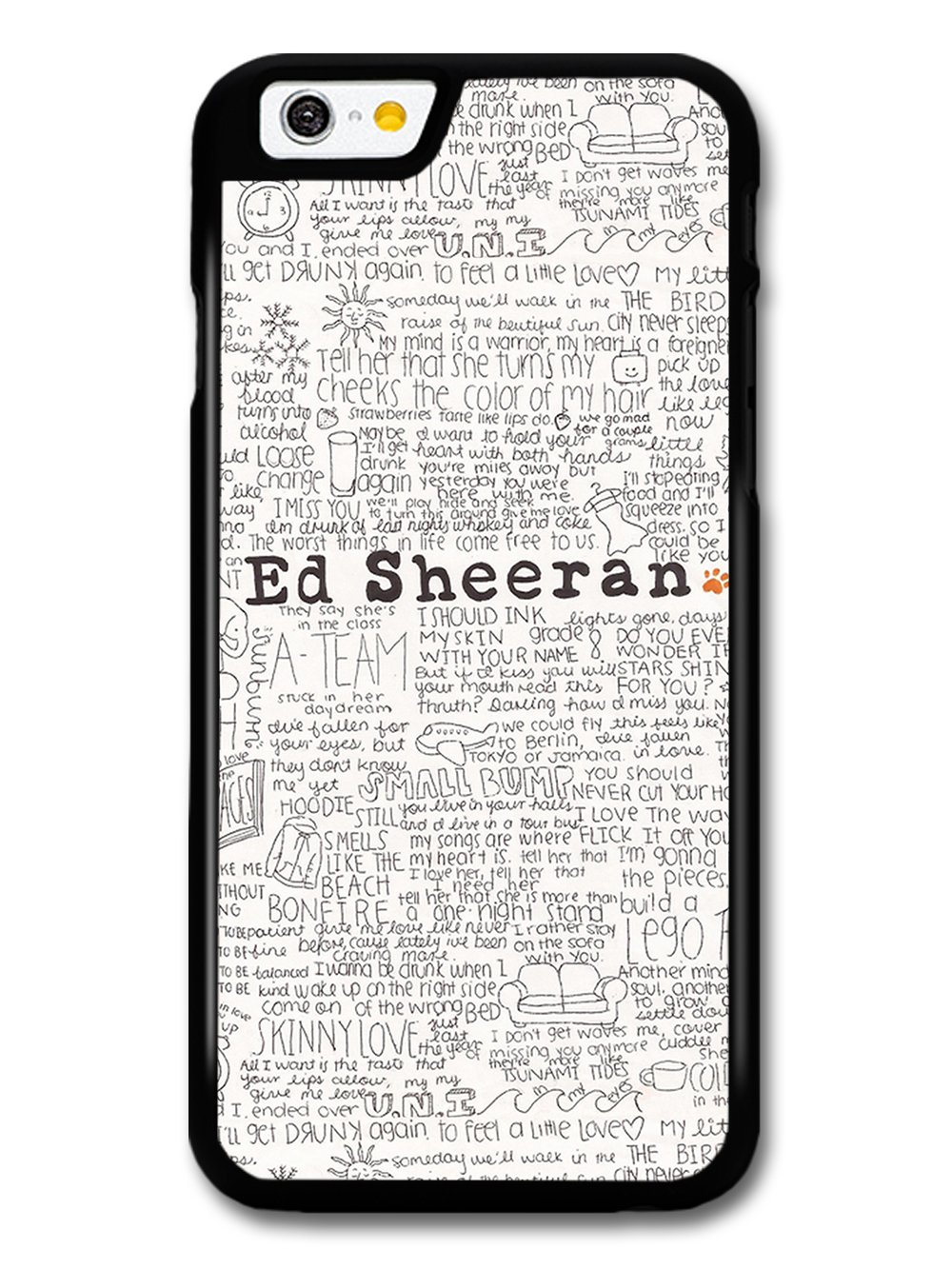 Ed Sheeran Song Lyrics Case For Iphone 6 6S: Amazon.co.uk: Electronics